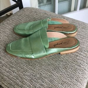 Free People leather flat mules